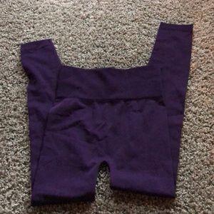 Sofra women's purple full length leggings